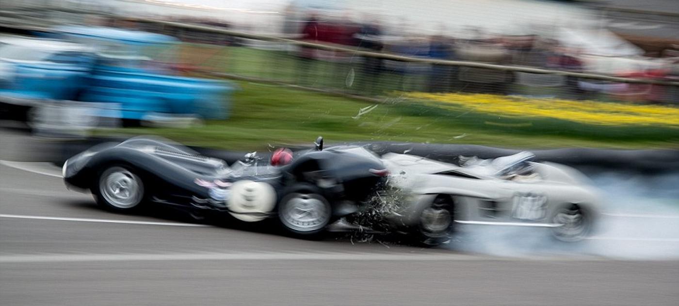 Jaguar z 59 r. vs Mercedes 300 SLS z 55r.