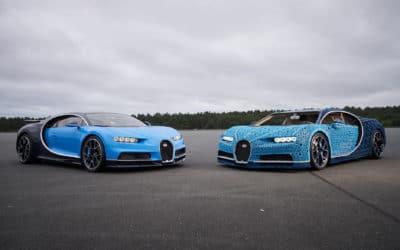 Bugatti Chiron w skali 1:1 zbudowany z LEGO. Użyto miliona klocków!